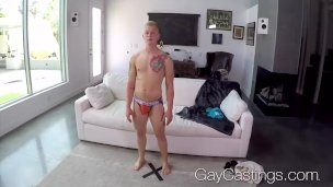 Newcomer Leo Luckett fucked and facial by casting agent