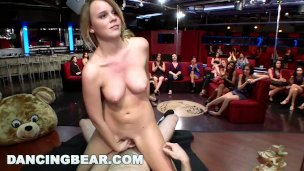 DANCING BEAR – CFNM Whores Sucking Male Stripper Dick At The Club (db11453)