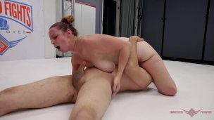 Max Blunts has a very tough time against feisty redhead MILF Bella Rossi