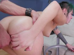 Young punk girl is anally punished