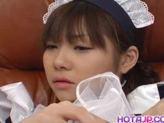 Naughty Natsumi is a hot Asian maid getting
