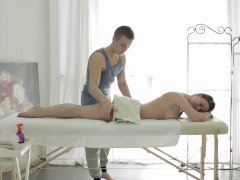 The masseuse on Maia is young body