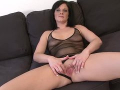 Horny Brunette Milf becomes pornstar fucked black man big cock in wet puss