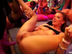 Hotties fucking in public at pajama party