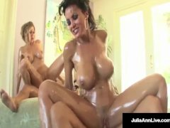 Mega MILFS Julia Ann & Lisa Ann in A Fuckin Big Titted 4way!