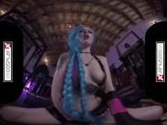 Lol Jinx Parody VR porn Alessa Riding A Hard Dick In The Dungeon VRCosplayX