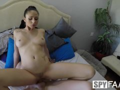 SpyFam Step sister Ariana Marie fucked after parents leave