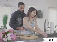 Babes - Valentina Nappi sucks some BBC in the kitchen