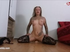 My Dirty Hobby - Hot busty tattooed babe dildo play