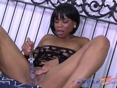 Ebony Milf makes herself cum multiple times