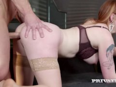 PrivateDOTcom - Gorgeous Redhead Carly Rae Fucks At Breakfast!