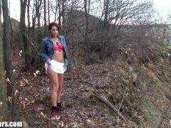 Shana Lane's Striptease At The Park