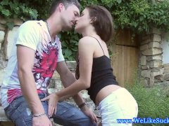 Outdoor Bj Action With Amateur Teen