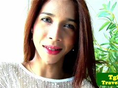 Cambodian Tgirl Nit Plays With Herself