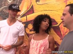 Misty Stone Works On 2 White Dicks
