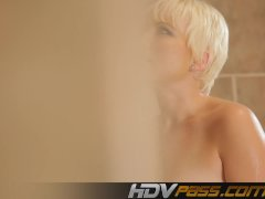 Blonde Nora Skyy Taking A Shower