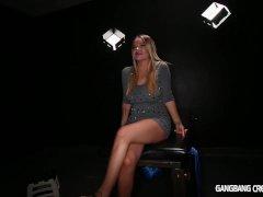 Gangbang Creampie Dime piece lves her gangbng