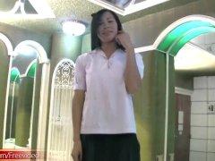 Korean Transgender School Girl Presents New Bigtits And Wanks Penis