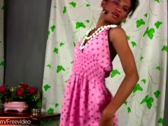 Filipino Transgender Strips Down Pink Dress And M