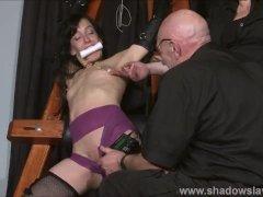 Extreme slave Elise Graves tit tormented and electro punished in hard bdsm