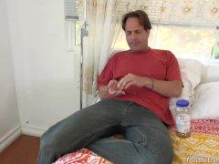 Amara Romani Gets Massage Which Leads To Footjob