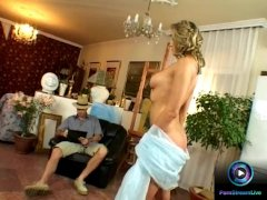 Caroline Cage And Her Painter Backdoor Fucking