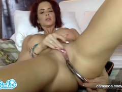 Emily Addison Huge Tits Red-headed Rubbing And Fucking Her Wet Pussy