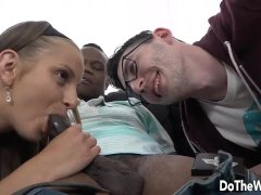 Hot wife takes big black dick anally