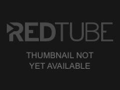 Redhead teen rides dildo anal threesome