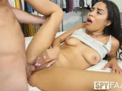 Spyfam Gyno stepbrother inspects sister Maya Bijou drenched pussy