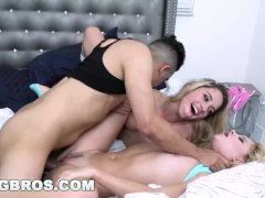 BANGBROS - Lesbians Khloe Capri and Riley Star Fuck Step Brother