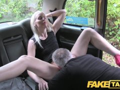 Fake Taxi Horny blonde fucked in the ass on taxi