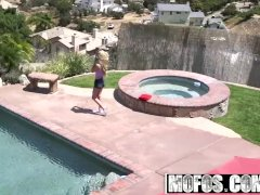 Mofos - Pervs On Patrol - Voyeur Watches Naked Busty Blonde starring  Molly
