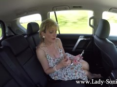Lady Sonia Plays With Clit In Moving Car