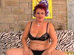 Mature Redhead Plays With Herself Before Fucking