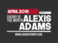 Meet our Busty April Cherry of the Month Alexis Adams