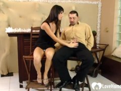 Passionate Brunette Is Great At Cock Pleasing