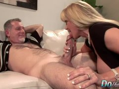 Mature Mommy Blows A Dude And Fucks Him In Front Of Her Younger Hubby