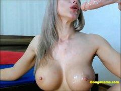 Amazing Blonde Doing Dual Penetration
