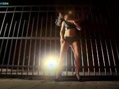 Hot European Babe Sandra Romain Creative Tease And Kinky Restrain Bondage Solo Video