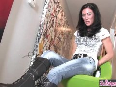 Skinny Teen Starri Knight Makes Herself Sperm Solo