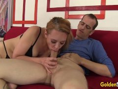 Mature Redhead Sable Renae Sucks A Hard Dick And Then Takes It In Her Cunt
