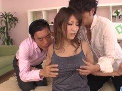 Big Tittied Yume Mizuki Working On 2 Hard Cocks More At Javhd Net