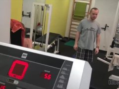 HUNT4K. Buddy earns a lot of cash by selling GF's tight pussy in gym