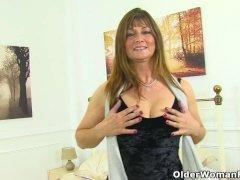 Euro Milf Lelani Gets Hot In A Erotic Santa Thong