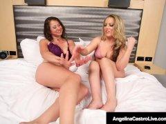 Angelina Castro Belt Cock Fucks Carmen Valentina & Gia Love!