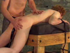 Twink Avery Monroe spanked during hardcore anal play