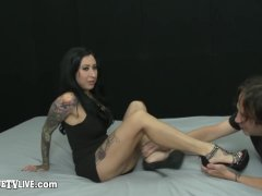 Inked Babe Lily Lane Fucked On Camshow By Eric John