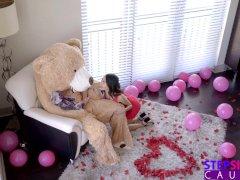 Fucking The Big Valentine Teddy Bear With Step Bro Inside S9:E7