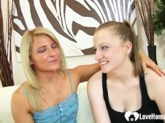 Desirable Lesbians Use A Very Huge Dildo